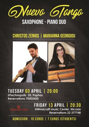 Cyprus : Nuevo Tango - A concert for saxophone and piano