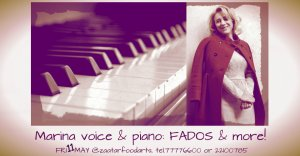 Cyprus : Marina voice & piano: Fados and more