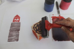 "Cyprus : ""Stamps"" Printmaking workshops for children"