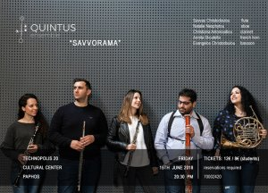 "Cyprus : ""Savvorama"" with the Woodwind Ensemble Quintus"