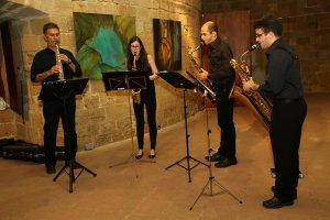 Cyprus : A music evening with the EUC Sax Quartet II under the stars