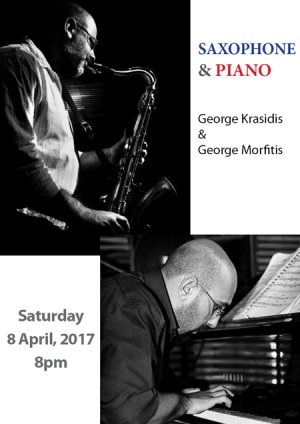 Cyprus : Jazz Music Concert with saxophone and piano