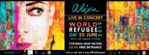 Cyprus : Alexia Concert - World Refugee Day