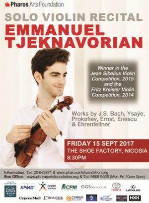 Cyprus Emmanuel Tjeknavorian Violin Recital