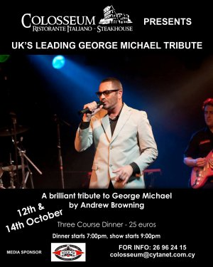 Cyprus : UK's Leading Tribute to George Michael by Andrew Browning