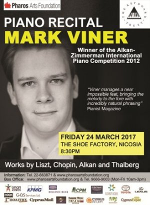 Cyprus : Piano Recital with Mark Viner