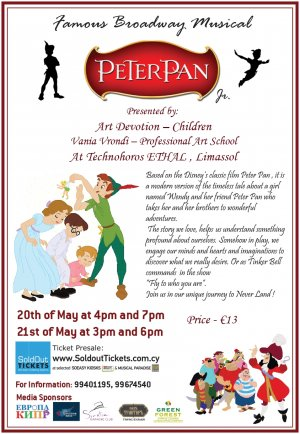 Cyprus : Peter Pan Jr. - Famous Broadway Musical