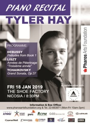 Cyprus : Piano Recital with Tyler Hay