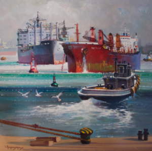 Cyprus : Papanelopoulos Giannis - The Ships of Piraeus port