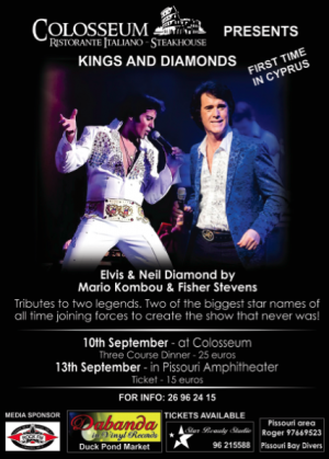 Cyprus : Tributes to Neil Diamond and Elvis Presley