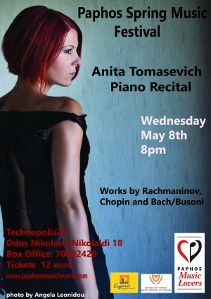 Cyprus : Piano Recital with Anita Tomasevich